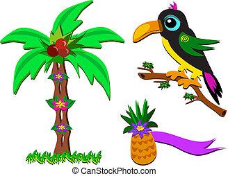 tropische , malen, vermalen, afbeeldingen