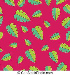 tropische , muster, blätter, seamless