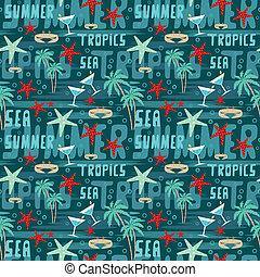 tropische , muster, seamless