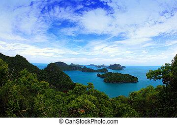 tropische , natuur, zee, eiland, thailand