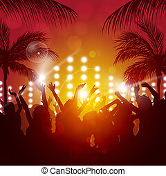 tropische , party, abend