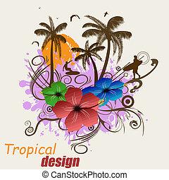 tropische , plakat, design