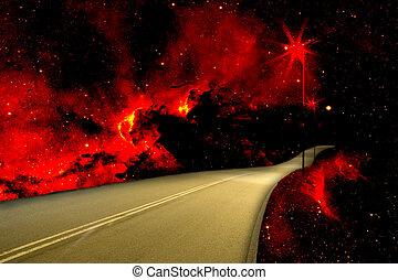 tropische , plattelandsweg, vuur