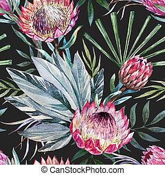 tropische , raster, protea, model