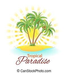 tropische scène
