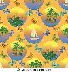 tropische , seamless, hintergrund