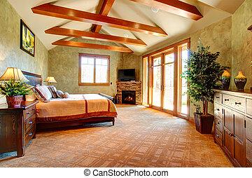 Badkamer, tropische , thema, luxe, interieur, fireplace ...