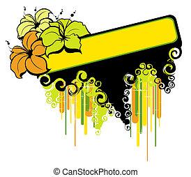 tropische , sommerblüte, banner