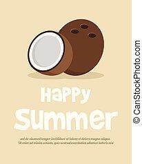 tropische , sommerblüte, plakat