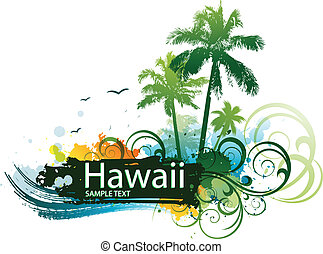 tropische , surfen, backgroung