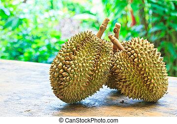 tropische , thailand, durian, früchte