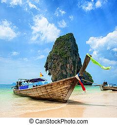 tropische , thailand, strand, eiland