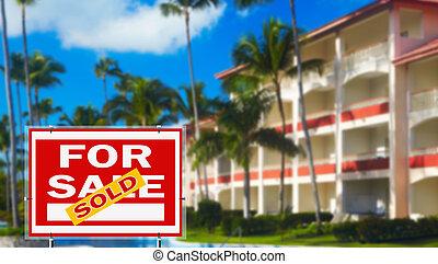 tropische , vakantiepark, verkoop