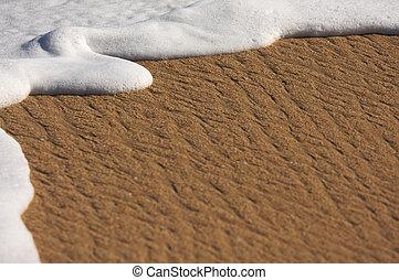 tropische , zand, schuim, zee