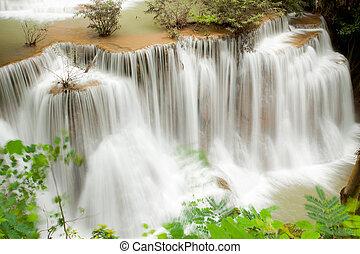 tropischer regenwald, wasserfall