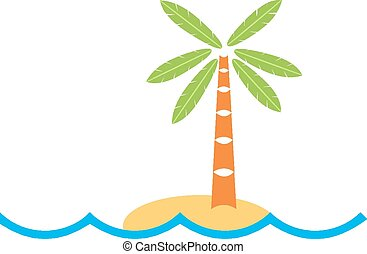 tropisk ö, logo