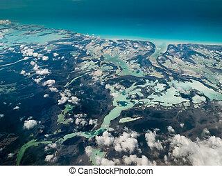 tropisk, øer, aerial udsigt