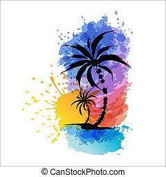 tropisk, baggrund