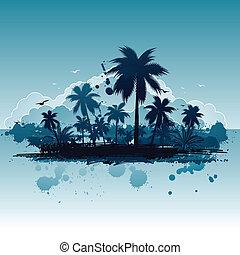 tropisk, bakgrund