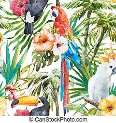tropisk, fugle
