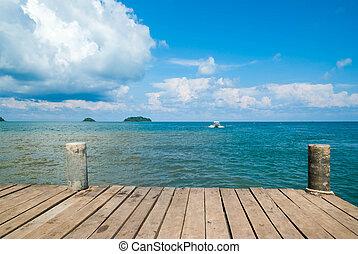 tropisk, island.
