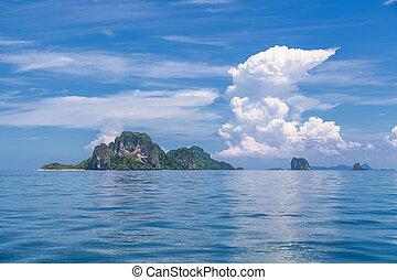 tropisk, islands.
