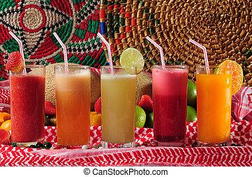 tropisk, juice