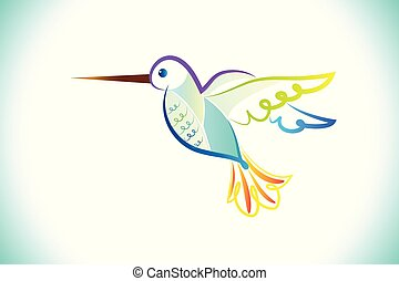 tropisk, logo, amerikan, surrande, fågel