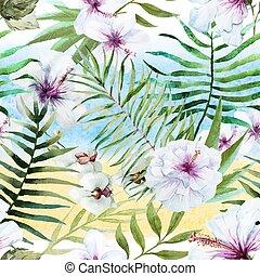 tropisk, mönster