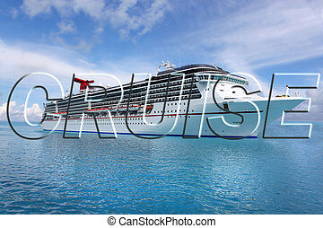 tropisk, skepp kryssning