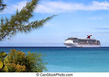 tropisk, skepp