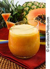 tropisk, smoothie