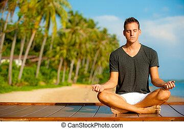 tropisk, yoga