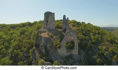 Trosenj fortress remains on the west side of mountain...