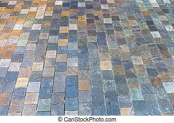trottoir, granit