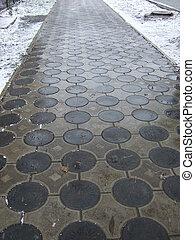 trottoir, hiver