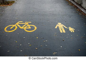 trottoir, signes