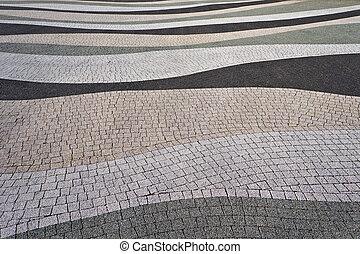 trottoir, texture., moderne