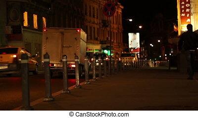 trottoir ville, nuit