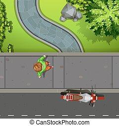 trottoir, vue aérienne