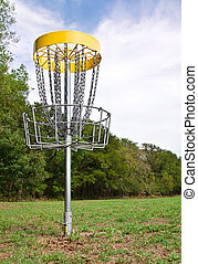 trou, disque, golf