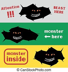 trou, monstre, fissure