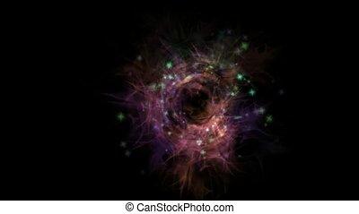 trou noir, galaxie, univers