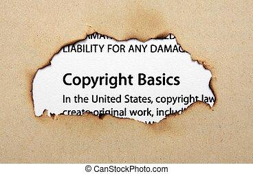 trou, papier, droit d'auteur