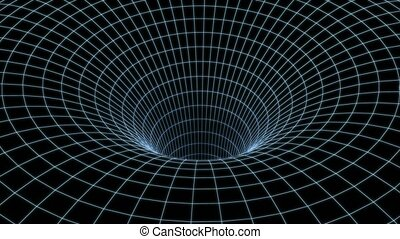 trou ver, tunnel, animation, warp., 3d, vitesse, 4k