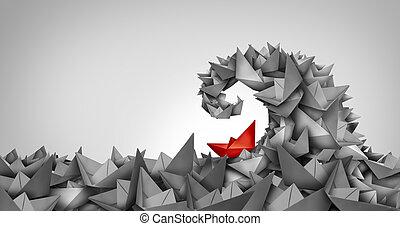 Trouble Concept - Trouble concept as a business symbol as a ...