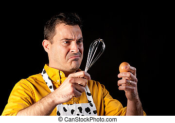Troubled men - How to whisk an egg, a major challenge