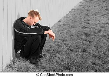 Troubled Young Man - When you are sad, lonely, troubled, or...