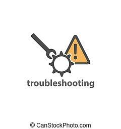 Troubleshoot web element icon vector design image