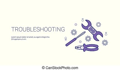 Troubleshooting Service Concept Template Web Banner With Copy Space